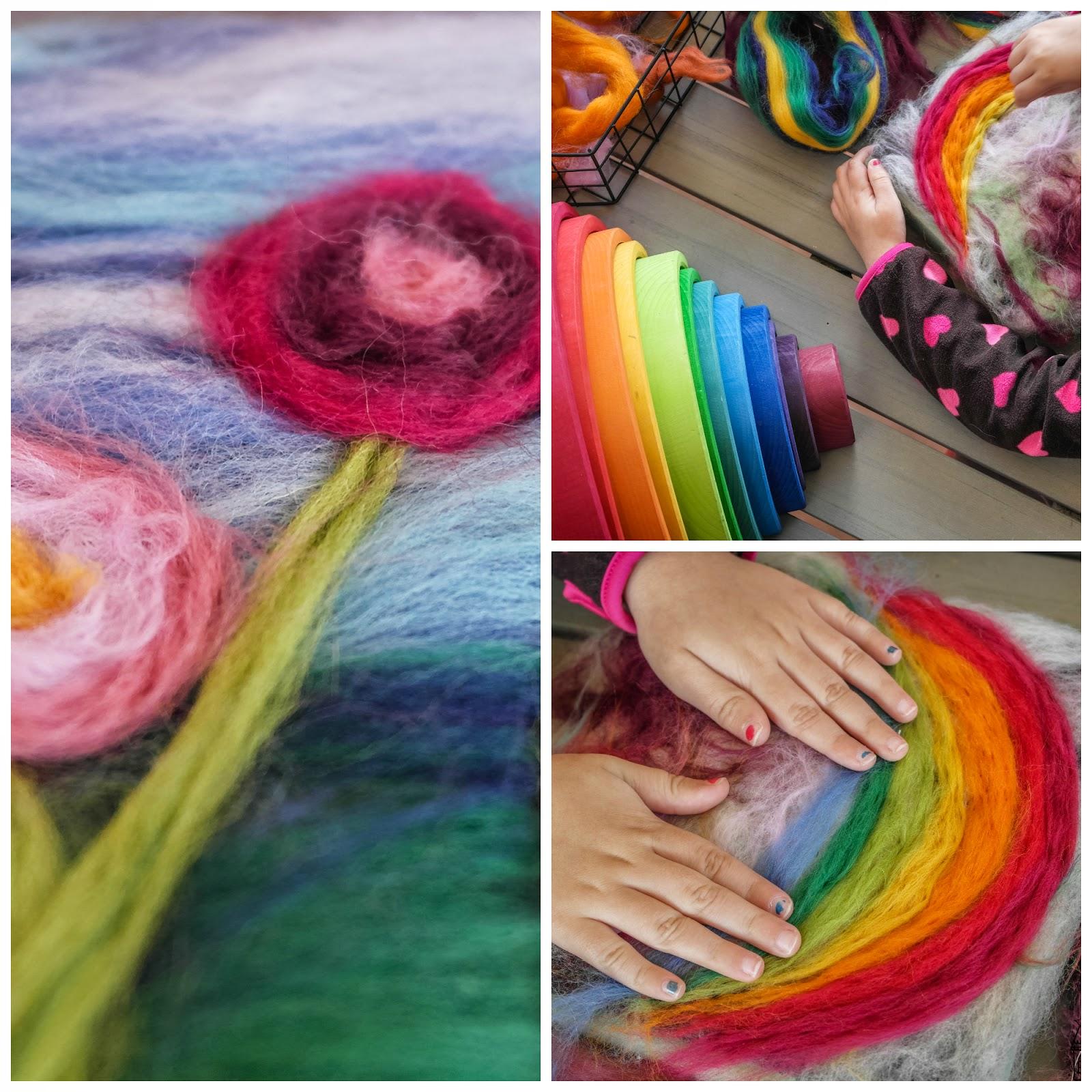 Experimentar el color con lana diy con ni os de mi - Como trabajar desde casa haciendo manualidades ...