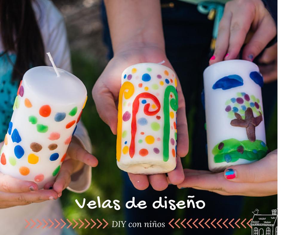 Diy Con Ninos Decoramos Velas De Mi Casa Al Mundo - Como-decorar-una-vela