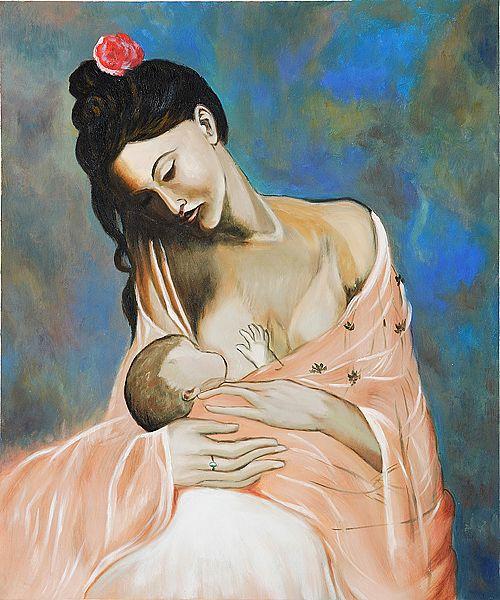 """Madre e hijo"" de Pablo Picasso (1905)"