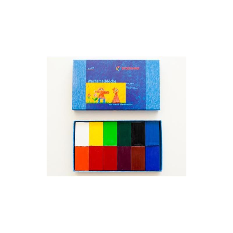 Caja 12 bloques de cera Stockmar