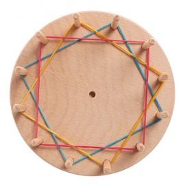 Disco de madera waldorf de aprendizaje