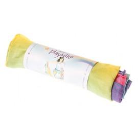 pañuelo de seda arcoiris
