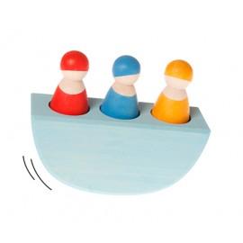 Barco balancín 3 hombrecitos