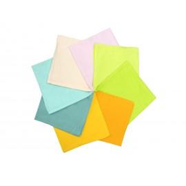 set pañuelos pastel