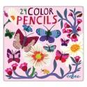 24 lápices de Arte Mariposas de eeBoo