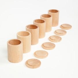 cubilete de madera natural