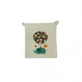 Bolsa de merienda Elefantes (Comercio Justo)