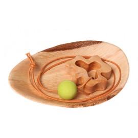 Collar de lactancia trébol de madera