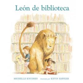 León de biblioteca