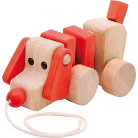 perro para arrastrar de madera ecotoy