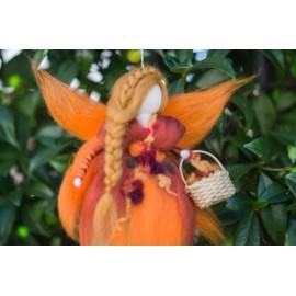 Cesto de flores o cornucopia para hada