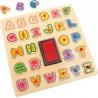 Puzzle con sellos ABC