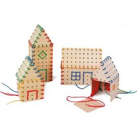 construcciones de madera para enhebrar